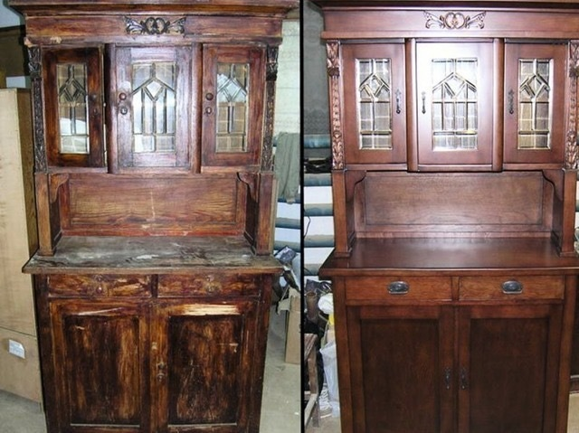 Реставрация деревянного шкафа своими руками