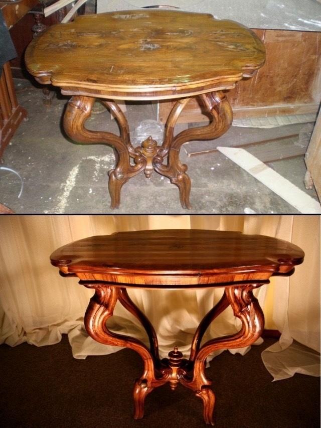 Как реставрировать стол своими руками фото 76